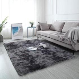北欧可爱网红客厅茶几卧室满铺床边衣帽间长毛水洗地毯