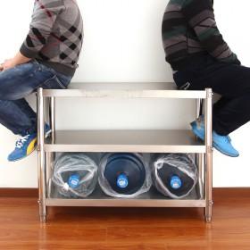 加厚不锈钢置物架落地花架锅架储物架收纳架微波炉烤箱