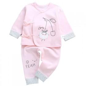 婴儿衣服0-3月纯棉无骨两件套初生男女孩秋冬和尚服