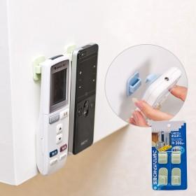 2個裝多功能粘貼式電視空調遙控器掛鉤 免釘無痕粘鉤