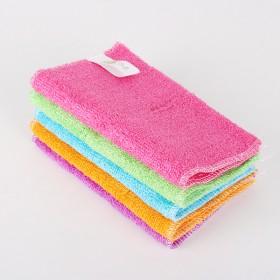 双层竹纤维洗碗布吸水不沾油百洁布韩式抹布
