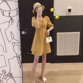智熏裙法式很仙法国小众桔梗复古收腰连衣裙超仙女甜美