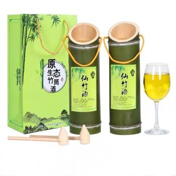 2瓶竹筒酒自酿每瓶500毫升