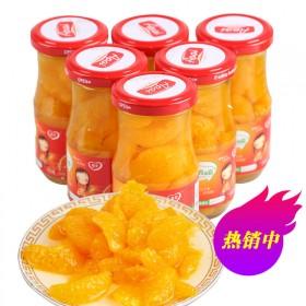 6瓶 橘子桔子玻璃瓶罐头水果
