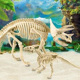 恐龙化石考古挖掘玩具diy手工拼装