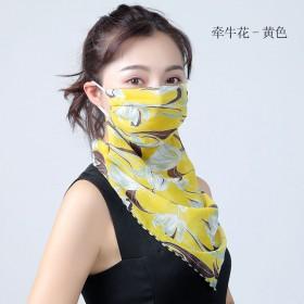 新款口罩丝巾女学生韩版春夏秋季防尘防晒骑车女护颈透
