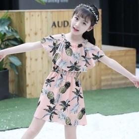 新款潮童女童连衣裙韩版吊带裙雪纺公主裙连衣裙童装