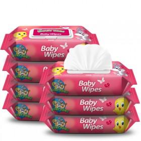 【5包】无香型儿童婴儿湿纸巾新生儿宝宝专用手口湿巾