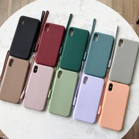 简约清晰纯色iphoneXs手机壳max磨砂