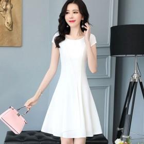 好看的连衣裙专衣棉麻中长款流行裙子衣服女新品