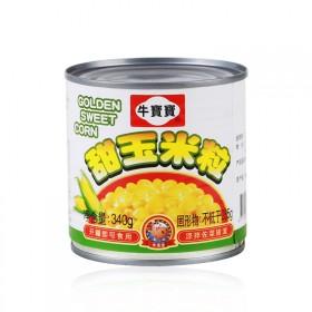 泰国进口甜玉米粒罐头即食台湾牛宝宝牌340g