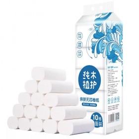 【10卷】植护卷纸餐巾纸卷纸卫生纸草纸厕纸面巾纸忐