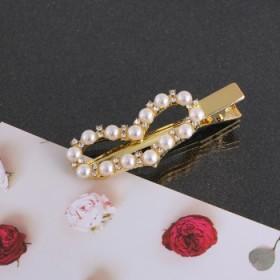 5个装刘海夹少女学生可爱边夹一字夹网红珍珠发夹