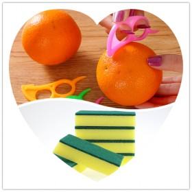 百洁布海绵块洗碗海绵 水果橙子剥皮器