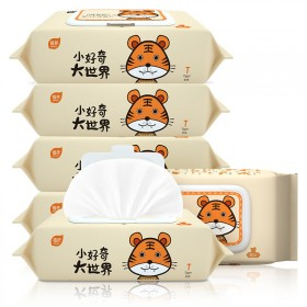 【5包】植护80抽婴儿湿巾宝宝湿纸巾新生湿纸巾忐