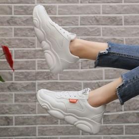 夏季网面小熊鞋底老爹鞋女运动鞋学生韩版百搭小白鞋