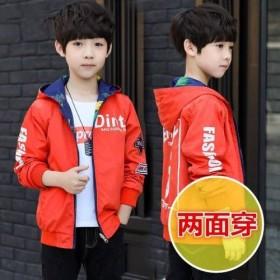 中大童男童秋装外套2019新款两面穿上衣韩版