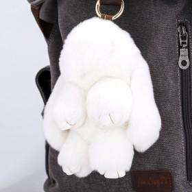 装死饰品兔挂件正版真皮草獭兔毛毛绒小兔子