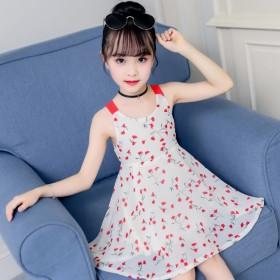 女童连衣裙2019新款夏中大童韩版时髦雪纺公主裙