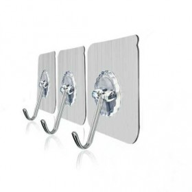 挂钩强力粘胶贴墙壁壁挂承重吸盘厨房挂勾无痕粘贴门后