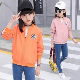女童外套秋装儿童韩版拉链短款休闲夹克中大童棒球服潮
