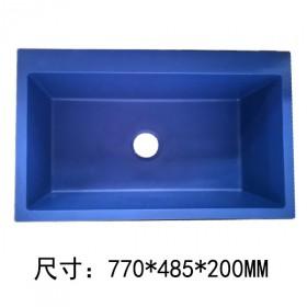 花岗岩水槽单槽加厚超硬加大洗菜盆碗池  不含龙头