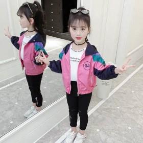 女童外套韩版儿童洋气网红春装小女孩时髦春秋潮童装