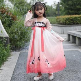 汉服女童夏秋装小灵语齐胸连衣裙中国风仙女裙