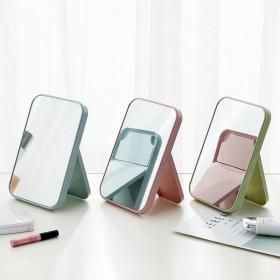 化妆镜便携小镜子折叠梳妆镜台式公主镜桌面镜子随身镜