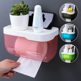 卫生间纸巾盒防水免打孔厕所浴室纸巾架洗手间卫生抽卷