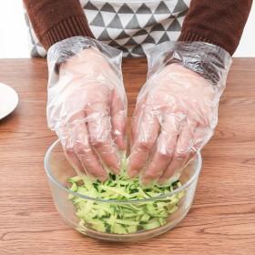 厨房一次性手套加厚医用透明pe薄膜塑料手套家用卫生