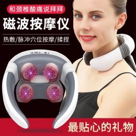 颈椎按摩器肩颈家用电动多功能护颈仪脖子智能加热肩部
