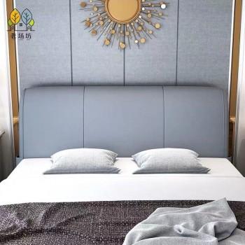 床头靠垫皮革大靠背床头靠垫软包套罩北欧榻榻米床头靠