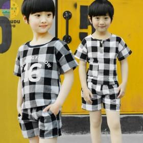 男童夏装套装2017新款T恤韩版夏季儿童短裤宝宝潮