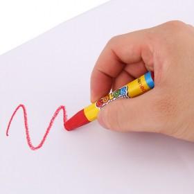 油画棒12色色宝宝蜡笔儿童安全幼儿画笔彩笔腊笔