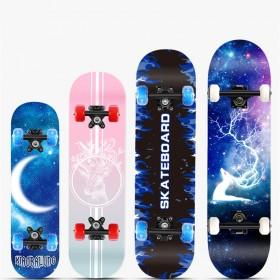 儿童滑板青少年初学者专业成人男女生双翘极限滑板车
