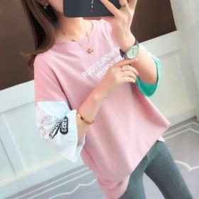 2019夏装女装打底衫学生宽松短袖t恤韩版新款百搭