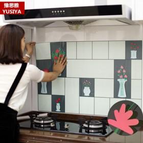 豫思雅厨房防油贴纸耐高温灶台防水防油烟贴纸瓷砖墙贴