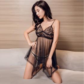 情趣性感睡衣小胸诱惑超骚透明睡裙挑逗开档免脱激情套