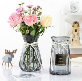 欧式创意玻璃花瓶水培绿萝植物干鲜花插花瓶器皿餐厅