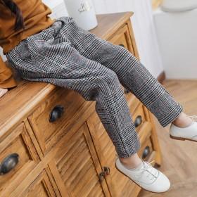 亏本好质量女童格子裤新款春秋时尚儿童休闲裤