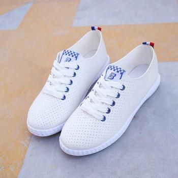 新款浅口小白鞋女夏季透气韩版休闲百搭镂空学生运动单