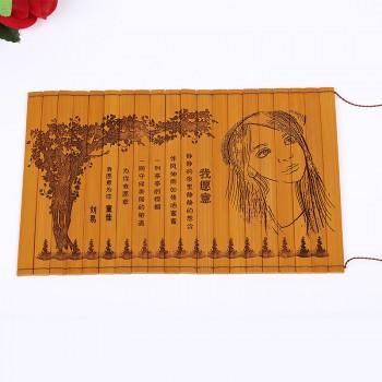 竹简情书定制创意仿古竹简书刻字古代竹卷竹筒送男友女