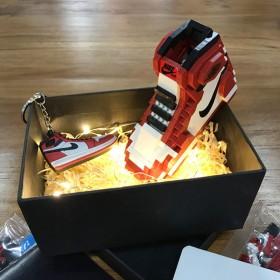 aj积木鞋兼容乐高拼图篮球鞋模型拼装玩具生日礼物男