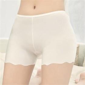 夏季薄款防走光裤冰丝无痕蕾丝女学生内穿打底保险短裤