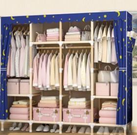 1.7米衣柜简易布衣柜简约现代租房衣柜子牛津布艺