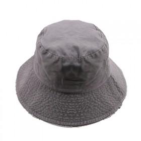纯色毛边渔夫帽防晒出游男女大帽檐盆帽ins同款百搭