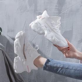 内增高小白鞋子女春夏季新款网红百搭厚底休闲透气运动