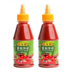 百家鲜番茄酱沙司瓶装家用挤压瓶手抓饼商用肯德基小包