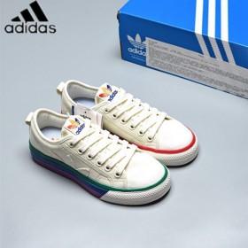 阿迪达斯男鞋板鞋彩虹鞋帆布鞋男鞋女鞋学生校园板鞋